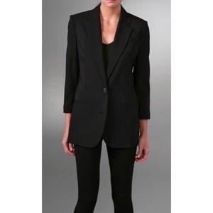 Vince Boyfriend Wool Blend Black Blazer Jacket 12